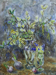 Spring still life. 2001. Watercolour on paper. 41 x 53 cm. Private collection.