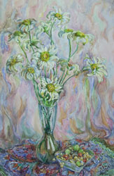 Daisies. 2000. Watercolour on paper. 29 x 43 cm.