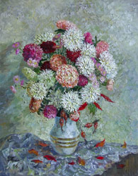Little asters. 2006. Oil on canvas. 35 x 45 cm. Private collection.