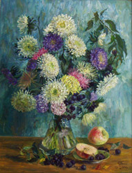 Asters. 2004. Oil on canvas. 49 x 64 cm. Private collection.