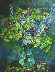 Field bouquet. 2006. Oil on canvas. 44 x 55 cm. Private collection.
