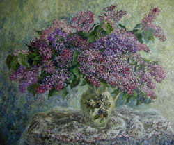Lilac. 2008. Oil on canvas. 60 x 50 cm. Private collection.