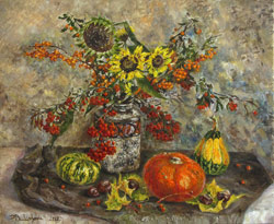 Autumn still life. 2012. Oil on canvas. 60 x 50 cm. Private collection.