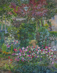 In garden. Asters. 2009. Oil on canvas. 40 x 50 cm.