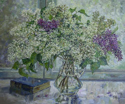 White lilac. 2008. Oil on canvas. 60 x 50 cm. Private collection.