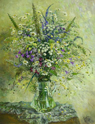Meadow bouquet. 2007. Oil on canvas. 50 x 65 cm. Private collection.