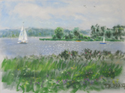At the river Havel 2. 2017. Pastel on paper. 40 x 30 cm.
