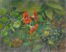In the garden. 2017. Pastel on paper. 30 x 24 cm.