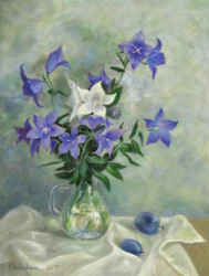 Bellflowers. 2015. Pastel on paper. 37 x 49 cm.