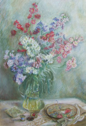 Stock flowers. 2001. Pastel on cardboard. 41 x 60 cm. Private collection.