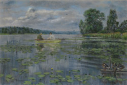 On Lake Putkovo. 2014. Pastel on paper. 61 x 41 cm. Private collection.
