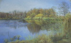The lake. 2006. Pastel on paper. 50 x 31 cm.