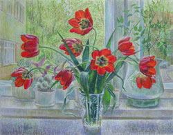 Tulips. 2006. Pastel on paper. 60 x 47 cm. Private collection.