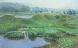 Misty morning. Vorsma. 2003. Pastel on paper. 42 x 27 cm. Private collection.