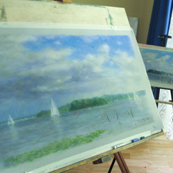 A large pastel from a plein air study.